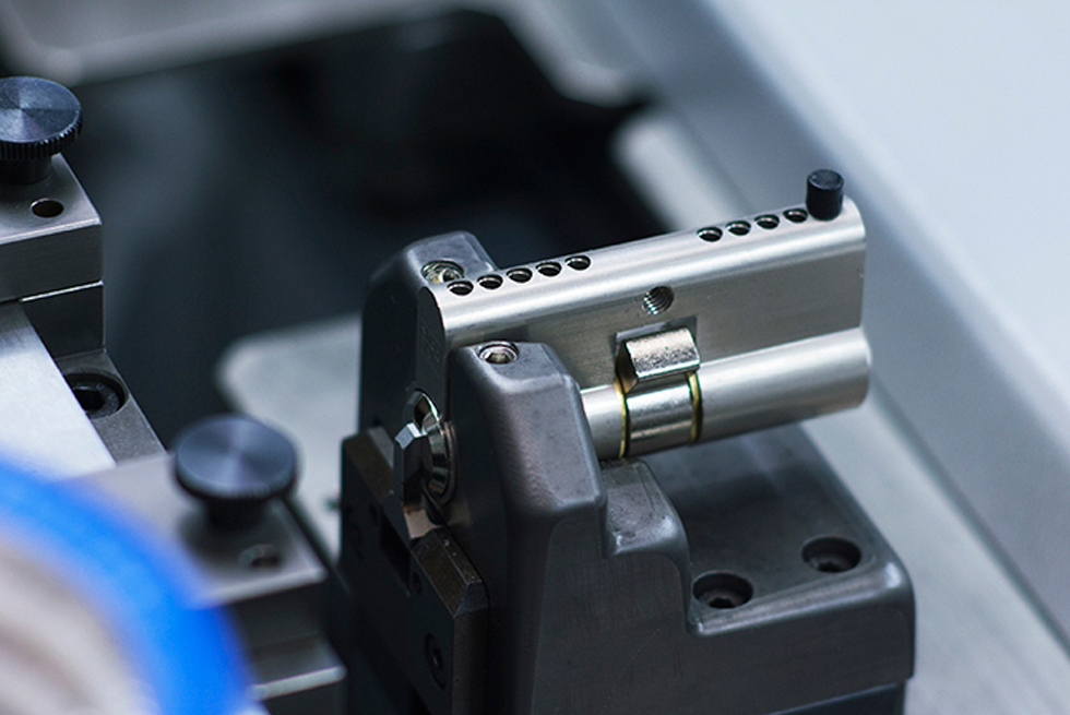 Cylinder locks run through the assembly system at a rate of 360 units an hour