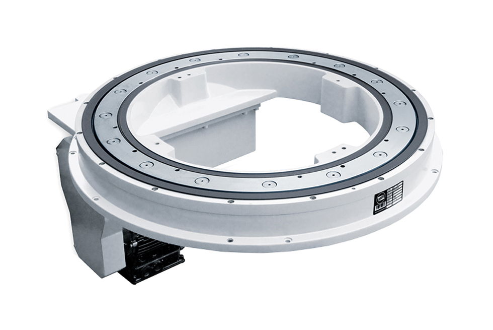 NR 750 rotary indexing ring: large bearing, integrated gears, large central opening